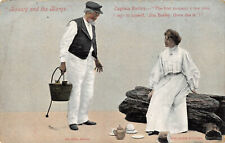 R173325 Beauty and the Barge. MR. Cyril Maude. Miss Jessie Bateman. Valentines S