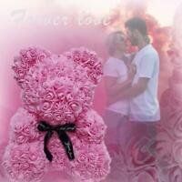 25/40cm Rose Bear Heart Flower Gift For Girlfriend Wedding Birthday P5T1