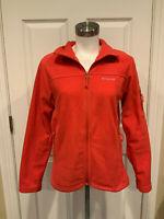 Columbia Dark Pink Fleece Zip-Up Jacket, Size Medium