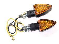 LED motorcycle turn signal set of 2 Arrow marker lights Black Amber
