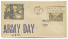 COVER FDC,ARMY DAY,APRIL 6,1949~BATTLE SAINT LO~3 CENT STAMP~ PM OMAHA,NE 1949