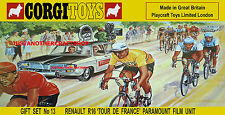 Corgi Tour De France 1981 PEUGEOT Raleigh Cycles Labels Car GS13