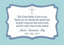Personalised Boy Communion Candy Buffet Table Sign Design 3