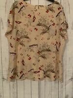 laura ashley size 16-18 top Bird Print