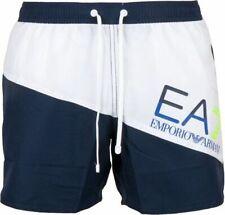 EMPORIO ARMANI EA7 SEA WORLD COLOUR BLOCK SWIM SHORTS SMALL (46) - BLUE/WHITE