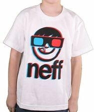 Neff Mens White Corpo 3D Glasses 3rd Dimension T-Shirt Large