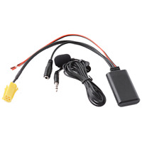 Bluetooth Module Aux Audio Cable Adapter+Mic For Benz Smart 451 Fiat Alfa Lancia