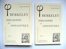 BRYKMAN : BERKELEY, PHILOSOPHIE & APOLOGÉTIQUE / TOMES 1 & 2 / VRIN / 1984
