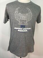 VTG 70s 80s Lite Beer Running Lakefront Marathon Milwaukee Wisconsin T Shirt XL