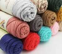 Cotton Yarn Thick For Knitting Craft 100g/pcs Natural Soft Silk Milk Accessories