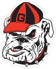 UGA UNIVERSITY OF GEORGIA Large Bulldog Head Cornhole Size DECAL