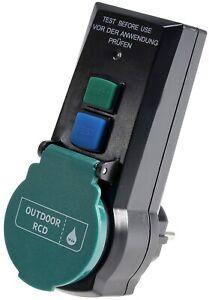 Fehlerstrom FI Personen FI Schutzschalter Adapter IP44 RCD Fehlerstromschutz 16A