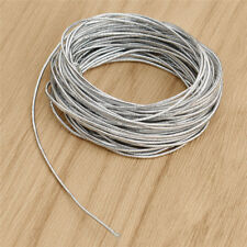 Stretch Magic 1mm Sparkle Silver Elastic Thread 5m Reel D83