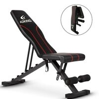 Black Adjustable Weight Bench Lifting Incline Foldable Full Body Workout Gym