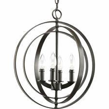 Progress Lighting Equinox 4-Light Antique Bronze Globe Chandelier P3453-20