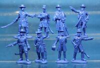 Plastic Toy Soldiers American Civil War Union General Staff 1/32 54 mm