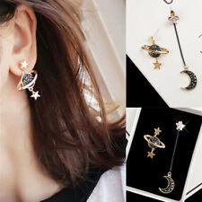 1 Pair Star Moon Long Drop Dangle Earrings Women Planet Ear Stud Earring Jewelry