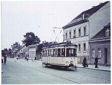 Foto im AK-Format, Teltow bei Berlin, Straßenbahn, um 1961