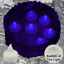 New 12 Purple Led Floating Candle Floral Tea Light for Wedding Centerpiece Decor