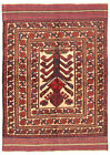 """Vintage Hand-Knotted Carpet 4'0"""" x 5'11"""" Traditional Oriental Wool Area Rug"""