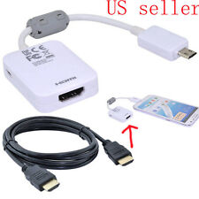 Micro USB 11pin to HDMI HDTV Cable Adapter for Samsung Galaxy S3 S4 Note2 II