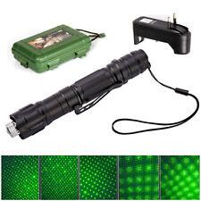 Pointeur Stylo Laser Visible Faisceau Puissant Vert Cap+Chargeur EU Vert Etoile