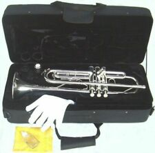 Silver Plated Trumpet with Case
