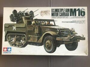Tamiya 1/35 U.S Multiple Gun Motor Carriage M16 plastic model kit mm181-800