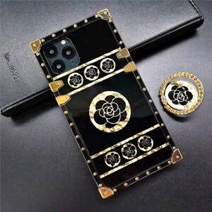 MOBILE PHONE CASE/COVER IPHONE 11/12/X/XR/XS/MAX/MINI/PRO GOLD/BLACK FLOWER TPU