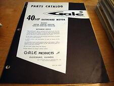 Gale 40 HP Outboard Motor Parts Catalog Manual 40D14B 40DE14B 40DG14B 40DL14B