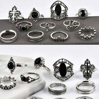 Jewelry Midi Knuckle 11 Pcs/set Finger Silver Ring Set Boho Rings Vintage Punk