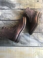 New Size 9(42)$325 Pajar Pebbled Leather & Suede & Mink Fur Lined Winter Boots