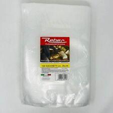Buste sacchetti sacchi per sottovuoto goffrate per alimenti 15x35cm 100pz