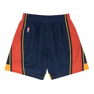 2009-10 Golden State Warriors Mitchell & Ness Road Navy Blue Swingman Shorts
