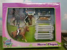 Van Manen Globe Farming Horse Play Set with 2 Horses and 2 Riders