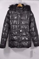 NWT Women's DKNY, Belted Down Coat W/ Fur(Detachable) Hood. Size M - Waterproof