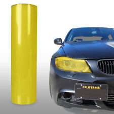 "Yellow Tint Vinyl Film Gloss Headlight Fog Lights 24"" x 12"" - VW"