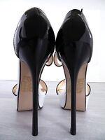 2018 HOHE LACK Plateau Damen Sexy Q72 Sandalen Pumps Schuhe High Heels Weiß 39