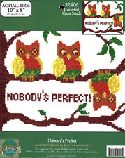 Cross Stitch Kit ~ Candamar Nobody's Perfect Owls in Tree EASY / Beginner #52406