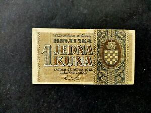 Croatie billet 1 kuna 1942