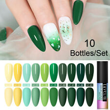 10Bottles/Set LILYCUTE UV Gel Polish Soak Off Long Lasting Tips Nail Art Varnish