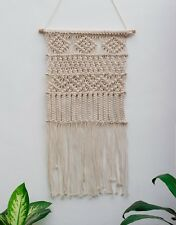 Handmade Macrame Wall Hanging Woven Art Macrame Tapestry Boho Cotton Decor 1098