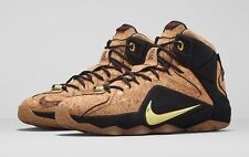 Nike Lebron XII EXT Cork 11.5 768829 100 Natural Black Gold 12 8 9 10 What The