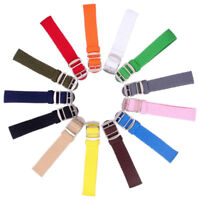 1 Piece Perlon Watch Strap Band Woven Nylon 14mm 16mm 18mm 20mm 22mm 13 Colors