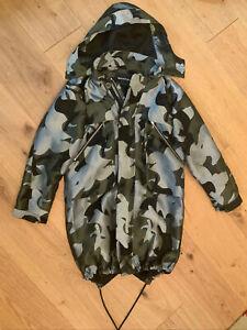 WHISTLES Womens Camo Parka-style Coat. Size S.
