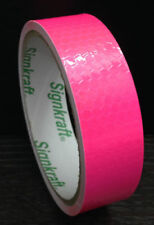 Pink Reflective Tape Hi Vis Visibility Decal Vehicle Motorcycle Fluroscent Peel