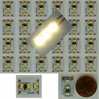24 Stück LED Warm-Weiß 3 LED´s auf 13x10mm z.B. Hausbeleuchtung C3258
