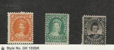 New Brunswick, Postage Stamp, #7-8, 11 Mint Hinged, 1860-63