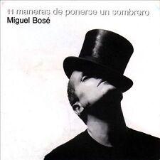 NEW Once Maneras de Ponerse Un Sombrero by Miguel Bosé (CD, Mar-1998, WEA)