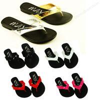 New Womens Metallic Thong Flip Flops Flat Sandals  Slip On Shoe Silver Gold
